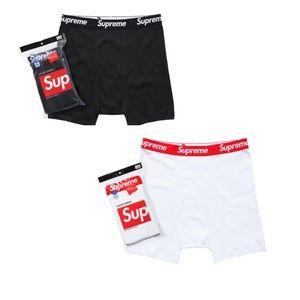Supreme Hanes Boxer Briefs Black Size SMALL New 2 BOXERS